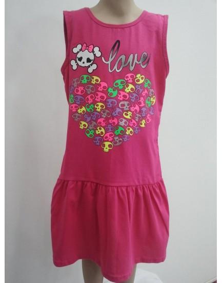 Baskılı Kız Cocuk Elbise