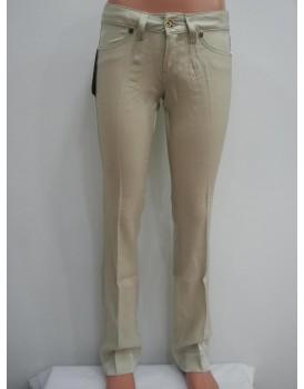 Krem Renkli Saten Kadın Pantolon