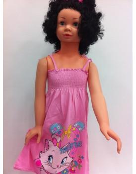 Pembe Askılı Kız Çocuk Elbise