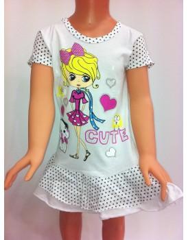 Baskılı Kız Çocuk Elbise