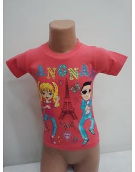 Baskılı  Kız Çocuk T-Shirt