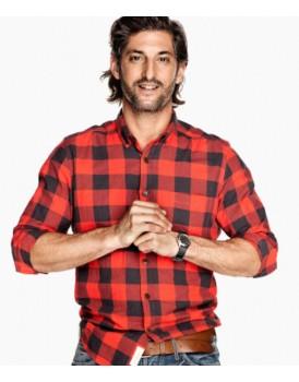 Kırmızı Siyah Kareli Erkek Gömlek