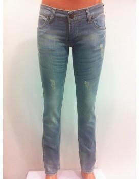 Mavi- Beyaz Kadın Kot Pantolon