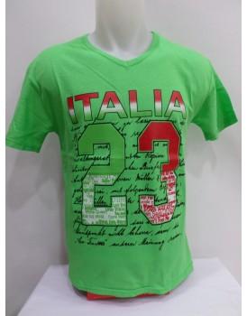 Açık yeşil Baskılı Erkek T-shirt