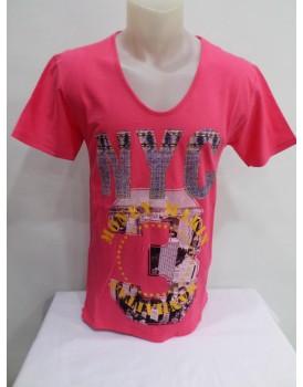 Kırmızı Baskılı Erkek T-shirt