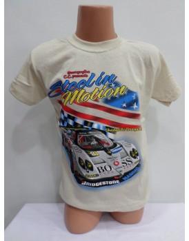 Araba Baskılı Buz Beyazı Erkek Çocuk T-Shirt