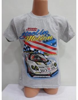 Araba Baskılı Beyaz Erkek Çocuk T-Shirt