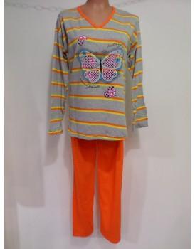 Baskılı Anne Beden Bayan Pijama Takımı