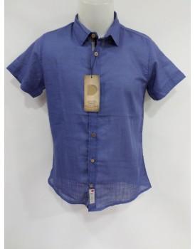 Düz Mavi Erkek Gömlek