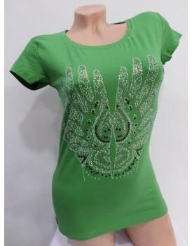 Baskılı Yeşil Bayan Body
