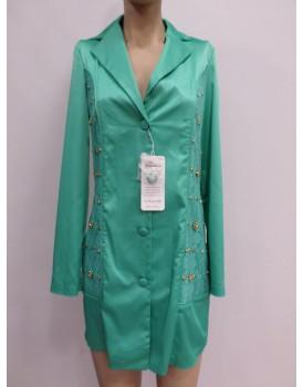Yeşil Mevsimlik Bayan Elbise