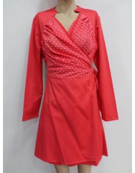 Kırmızı Mevsimlik Bayan Elbise